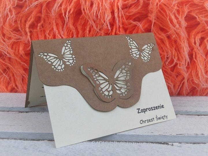 Przygotowania do chrzcin – zaproszenia dla gości – motyle